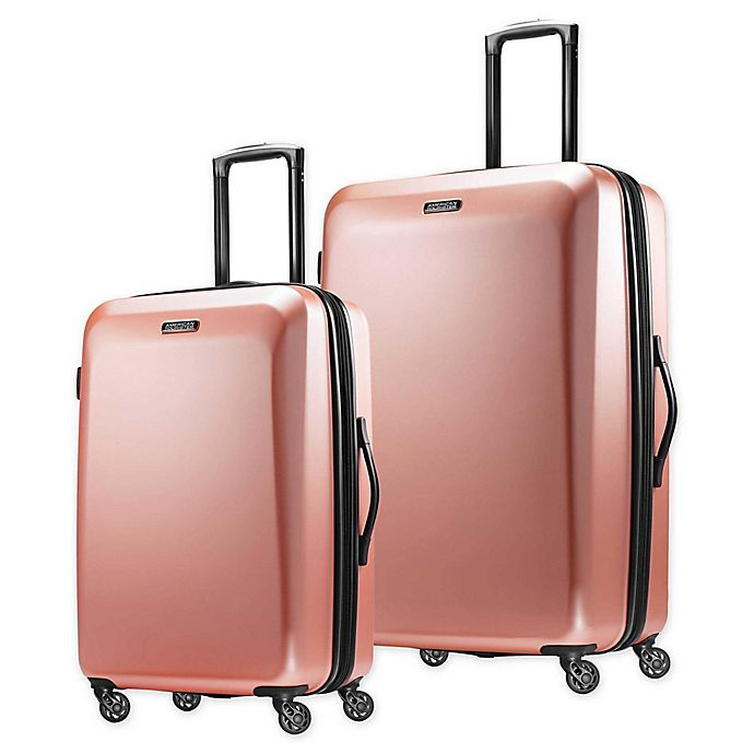 Alternate image 1 for American Tourister® Moonlight Hardside Spinner Checked Luggage in Rose Gold