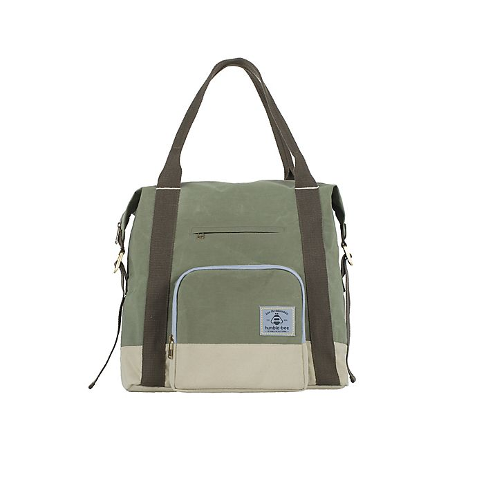 Alternate image 1 for Humble-Bee™ All Heart Convertible Diaper Bag in Olive