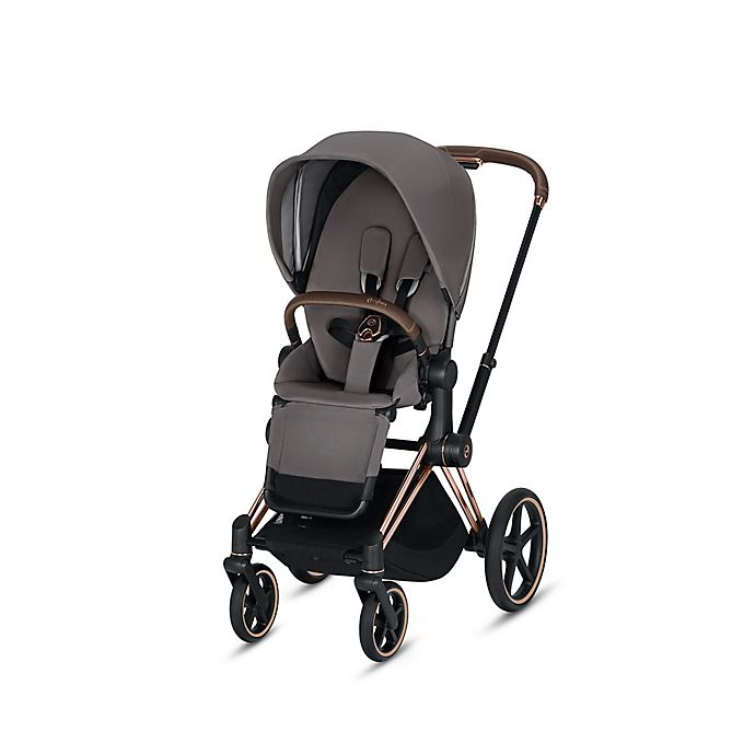 Alternate image 1 for CYBEX Priam Stroller with Rose Gold Frame and Manhattan Grey Seat