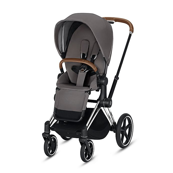 Alternate image 1 for CYBEX Priam Stroller with Chrome/Brown Frame