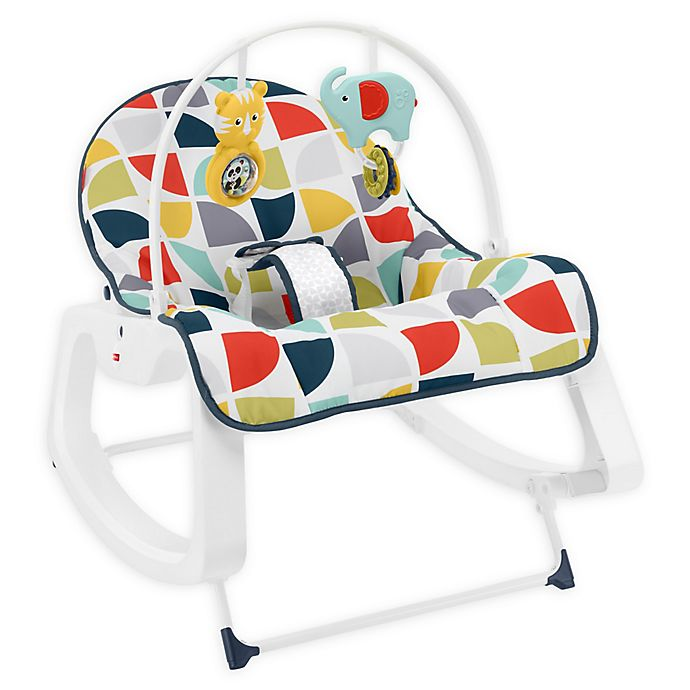 Fisher Price Infant To Toddler Rocker In Colorful Pinwheels