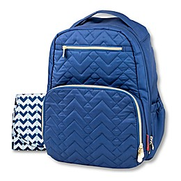 Fisher-Price® Signature Quilted Backpack Diaper Bag in Navy