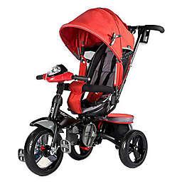 Evezo Maks 4-in-1 Stroller Trike in Red