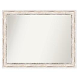 Amanti Art Mirror Choose your Size, Alexandria Whitewash Wood Mirror