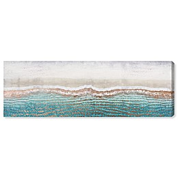Oliver Gal™ Rose Gold Sandy Beaches 10-Inch x 30-Inch Canvas Wall Art in Teal
