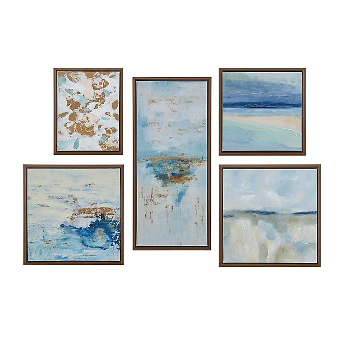 Alternate image 1 for Madison Park™ Horizon 5-Piece Panel Canvas Wall Art in Blue