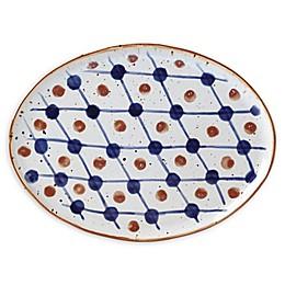 Dansk® Vandvid™ Dotted Grid Dinner Plate