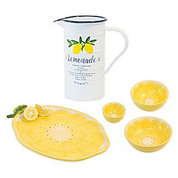 Boston International Lemon Drop Serveware Collection