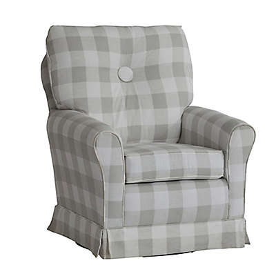 The 1st Chair™ Picnic Swivel Glider Chair in Grey