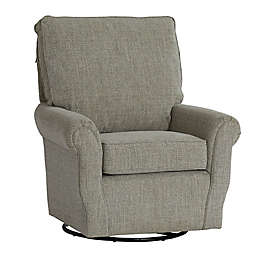 The 1st Chair®; Ella Grace Swivel Glider Chair in Wheat