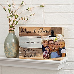 Family Photo Clip Personalized Reclaimed Wood Signs