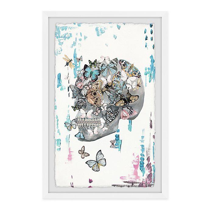 Alternate image 1 for Parvez Taj Butterfly Skull Garden 8-Inch x 12-Inch Framed Wall Art