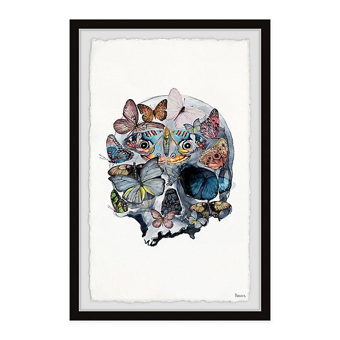 Alternate image 1 for Parvez Taj Magnificent Butterfly Skull 8-Inch x 12-Inch Framed Wall Art