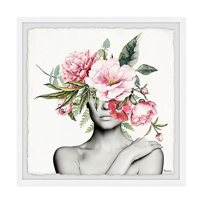 Alternate image 1 for Parvez Taj Pinkish Bloom 12-Inch Squared Framed Wall Art