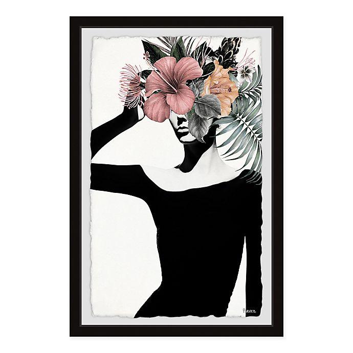 Alternate image 1 for Parvez Taj Tropical Lady 8-Inch x 12-Inch Framed Wall Art