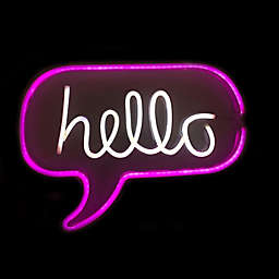 """Neon Shop 12.2"""" x 16.85"""" """"Hello"""" Wall Light in Pink"""