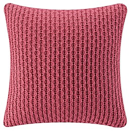 Bridge Street Hazel Square Throw Pillow in Coral