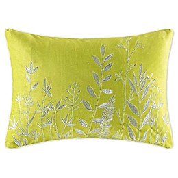 KAS Australia Blooms Janaia Oblong Throw Pillow in Chartreuse