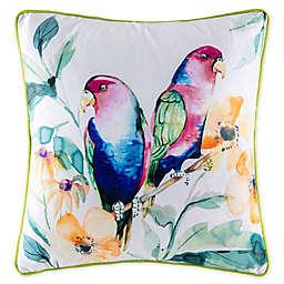 KAS Australia Blooms Birdy Square Throw Pillow