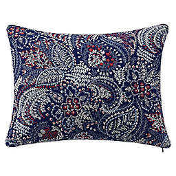 Bridge Street Luna Oblong Throw Pillow in Blue