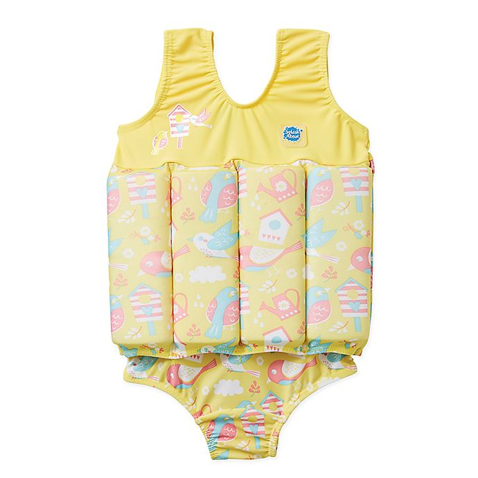 Alternate image 1 for Splash About Size 2-4Y 2-Piece Apple Daisy Floatsuit in Blue/Pink