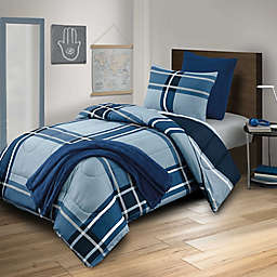 Westerly 5-Piece Reversible Twin XL Comforter Set in Denim