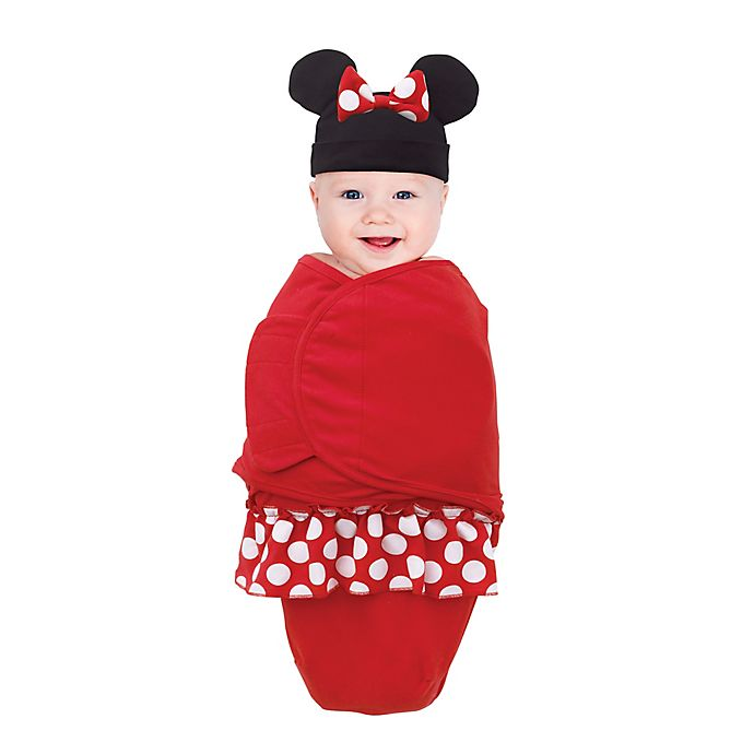 Alternate image 1 for Disney® Small Minnie Mouse Wearable Blanket in Red
