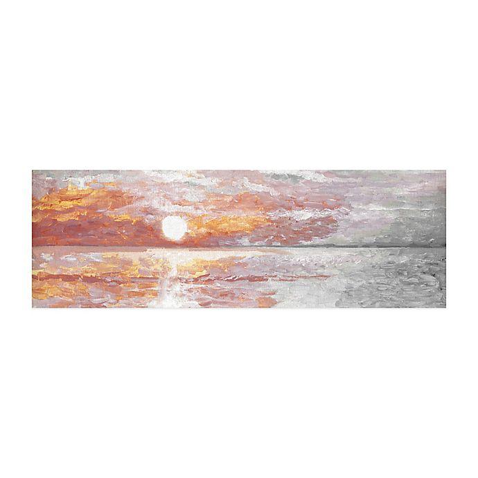 Alternate image 1 for Parvez Taj Deep Red Sunset 45-Inch x 15-Inch Canvas Wall Art