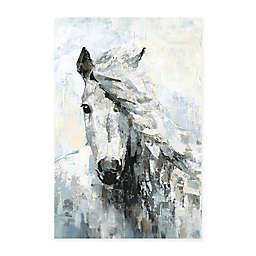 Parvez Taj Great White Horse Canvas Wall Art
