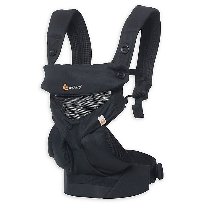 Alternate image 1 for Ergobaby™ 360 All Positions Cool Air Mesh Baby Carrier in Black