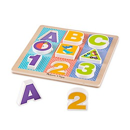 Melissa & Doug® 13-Piece ABC-123 Wooden Chunky Puzzle