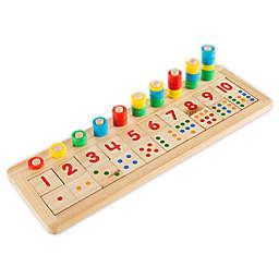 Hey! Play! Montessori 11-Piece Wooden Math Sorter Game