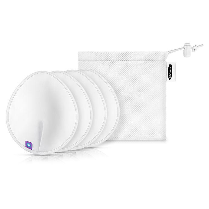 Alternate image 1 for Lansinoh® 4-Pack Washable Nursing Pads in White