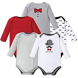 Hudson Baby® 5-Pack Gentleman Bodysuits in Red