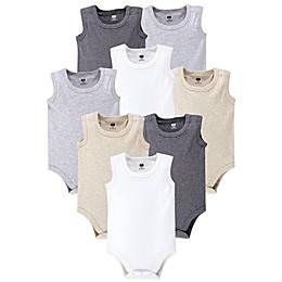 Hudson Baby® 8-Pack Sleeveless Bodysuits in Grey