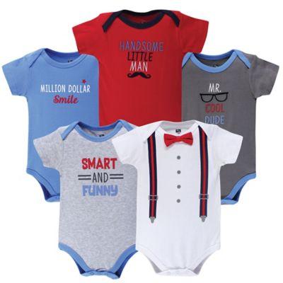 Hudson Baby Cotton Bodysuits Little Mister Handsome