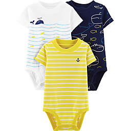 carter's® Boy's 3-Pack Short Sleeve Bodysuits