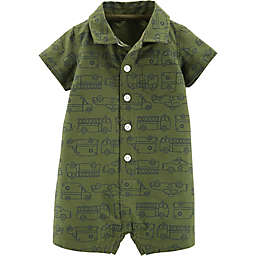 carter's® Boy's Polo Romper in Green