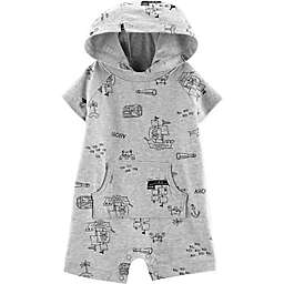 carter's® Boy's Pirate Hooded Romper in Cream