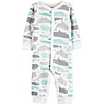 carter's® Boy's Size 3M Whale Snap-Up Cotton Footless Sleep & Play in