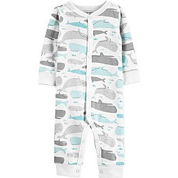 carter's® Boy's Whale Snap-Up Cotton Footless Sleep & Play in