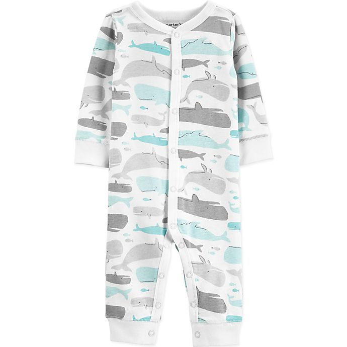 Alternate image 1 for carter's® Boy's Whale Snap-Up Cotton Footless Sleep & Play in