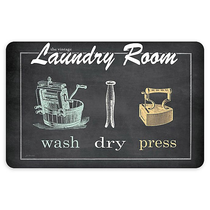 Alternate image 1 for Bungalow Flooring Vintage Laundry 23-Inch x 36-Inch Floor Mat