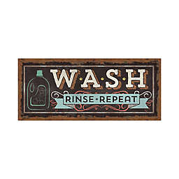 """Bungalow Flooring """"Wash Rinse Repeat"""" 25-Inch x 60-Inch Runner"""