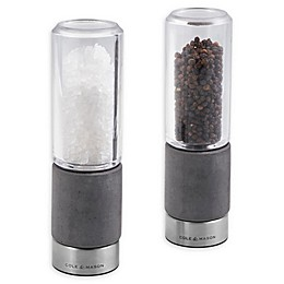 Cole & Mason Concrete Salt/Pepper Mills in Stainless Steel (Set of 2)