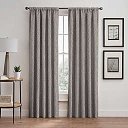 Signora 63-Inch Rod Pocket/Back Tab Room-Darkening Window Curtain Panel in Stone