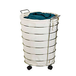 Honey Can Do Rolling Laundry Hamper In Canvas Chrome