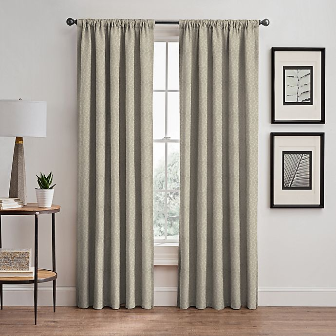 Alternate image 1 for Signora 84-Inch Rod Pocket/Back Tab Room-Darkening Window Curtain Panel in Celadon