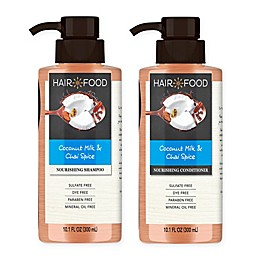 Hair Food Coconut and Chai Spice Sulfate-Free Shampoo and Conditioner