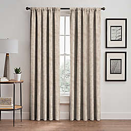 Isolde Leaf Embroidery 84-Inch Rod Pocket/Back Tab Window Curtain Panel in Ivory